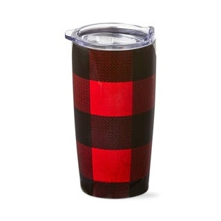 TAG Buffalo Check 18Oz Stainless Steel Tumbler Red