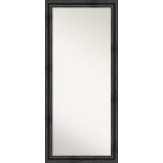 Floor / Leaner Mirror, Rustic Pine Black: Outer Size 29 x 65-inch - Black - 65.38 x 29.38 x 0.757 inches deep