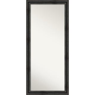Floor / Leaner Mirror, Rustic Pine Black: Outer Size 29 x 65-inch