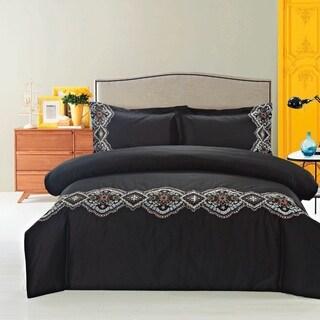 Morocco Duvet Cover Set Black