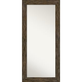 Floor / Leaner Mirror, Fencepost Brown: Outer Size 31 x 67-inch - Brown - 67.12 x 31.12 x 1.075 inches deep