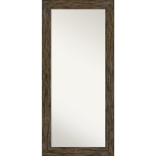 Floor / Leaner Mirror, Fencepost Brown: Outer Size 31 x 67-inch