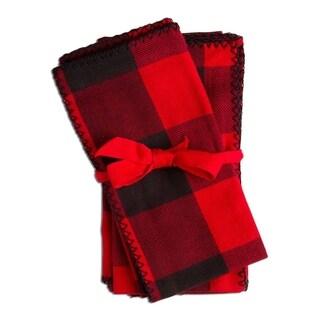 TAG Buffalo Check Napkin Set Of 4 Red