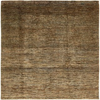 Hand Knotted Modern Ziegler Wool Square Rug - 8' 6 x 8' 6