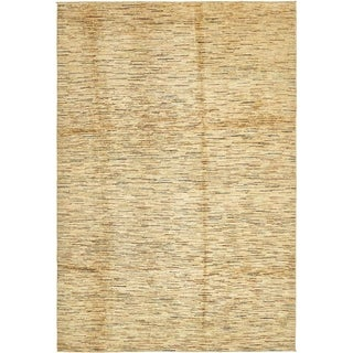 Hand Knotted Modern Ziegler Wool Area Rug - 6' 6 x 9' 8