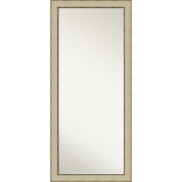 Floor / Leaner Mirror, Rusted Cream: Outer Size 29 x 65-inch - Cream - 65 x 29 x 0.981 inches deep