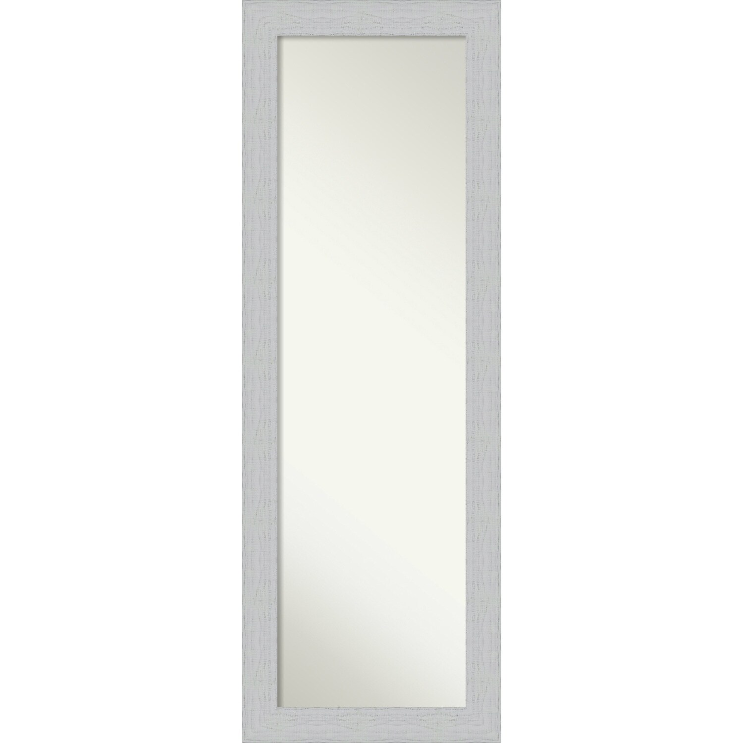 On The Door Full Length Wall Mirror Shiplap White Outer Size 18 X 52 Inch