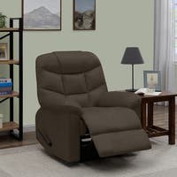 Copper Grove Ghent Brown Distressed Faux Leather Wall Hugger Recliner Chair
