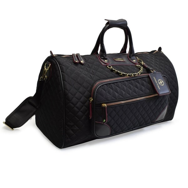 91f05ac4b5bf Shop Adrienne Vittadini 22 Inch Quilted Duffle With Chain Strap ...