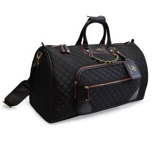 Adrienne Vittadini 22 Inch Quilted Duffle With Chain Strap