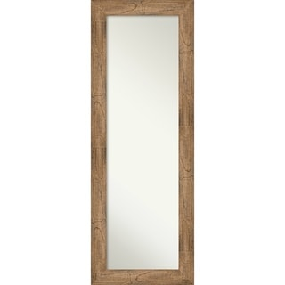 On The Door Full Length Wall Mirror, Owl Brown: Outer Size 19 x 53-inch - Brown - 53.38 x 19.38 x 0.795 inches deep