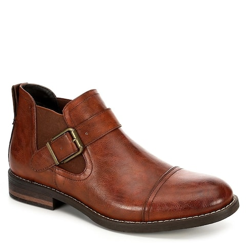 Day Five Mens Slip On Chelsea Ankle Boot Shoes, Brown