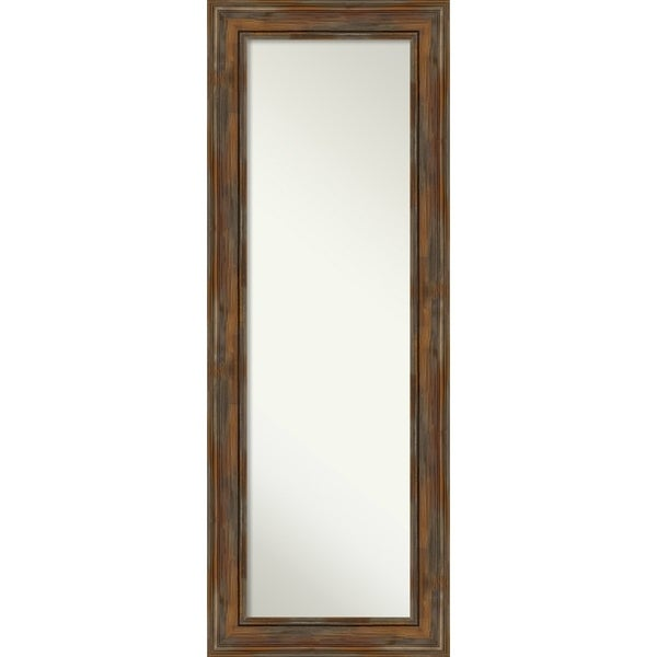 On The Door Full Length Wall Mirror, Alexandria Rustic Brown: Outer Size 20 x 54-inch