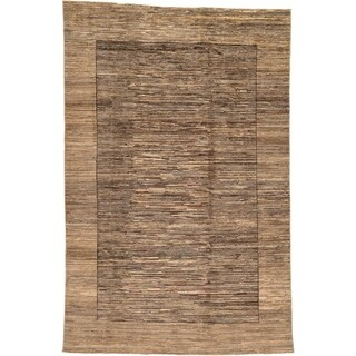 Hand Knotted Modern Ziegler Wool Area Rug - 6' 2 x 9' 5