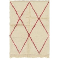 Hand Knotted Moroccan Semi Antique Wool Area Rug - 3' 4 x 4' 7