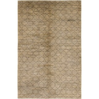 Hand Knotted Modern Ziegler Wool Area Rug - 5' 10 x 8' 9