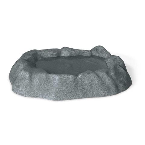 """K&H Pet Products Birdbath Unheated 1 Gallon Gray 17"""" x 23.5"""" x 4"""""""