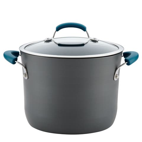 Rachael Ray Hard-Anodized Aluminum Nonstick 8-Quart Covered Stockpot