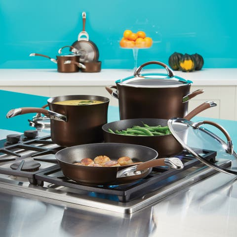 Circulon Symmetry Hard-Anodized Nonstick 7-Quart Dutch Oven, Chocolate