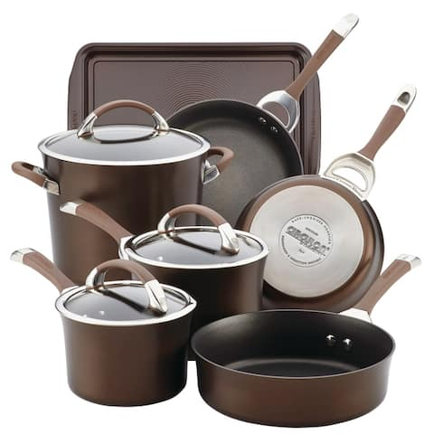 Circulon Symmetry Hard Anodized Nonstick 9pc Cookware Set plus Bonus