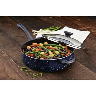 Paula Deen Riverbend Aluminum 5-Quart Jumbo Cooker, Deep Blue Speckle