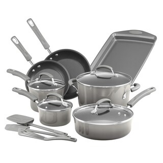 Rachael Ray Classic Brights 14pc Cookware Set with Bakeware and Tools