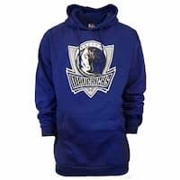 Majestic Mens Dallas Mavericks Logo Hoodie Big and Tall - Blue