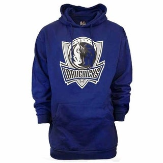 Majestic Mens Dallas Mavericks Logo Hoodie Big and Tall - Blue