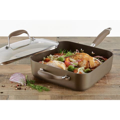 Anolon Advanced Hard-Anodized Nonstick 4-Quart Covered Square Saute