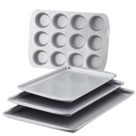 Farberware Nonstick Bakeware 4-Piece Set, Gray
