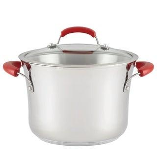 Rachael Ray Classic Brights Stainless Steel Nonstick 6.5-Qt. Stockpot