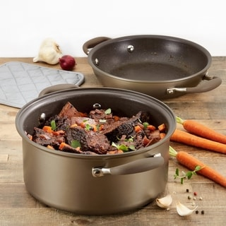 Link to Anolon Advanced Nonstick 5Qt Dutch Oven With Everything Pan Lid,Bronze Similar Items in Cookware