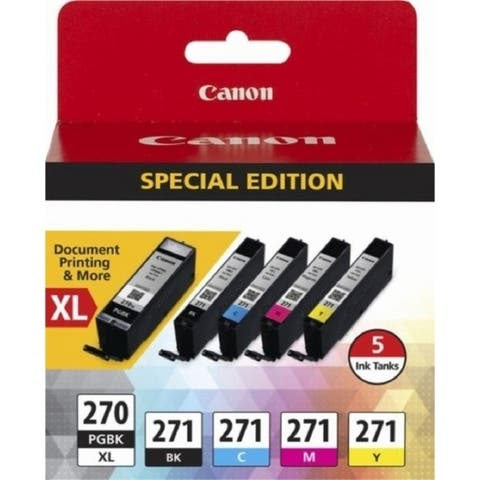 Canon PGI-270XL/CLI-271 Black/Color Ink Cartridges, (0319C006), 5/PK