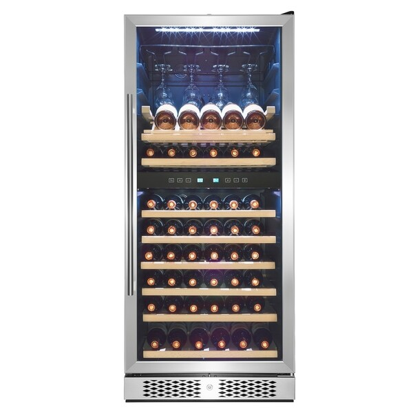 Shop Akdy 54 Quot 53 Bottle Touch Panel Dual Zone Shelves