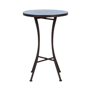 Mosaic Side Table - Blue Mini Cobble Pattern