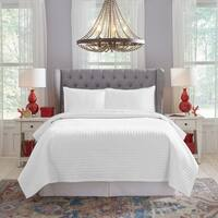 Pointehaven 450TC Dobby Cotton Oversized Quilt Set