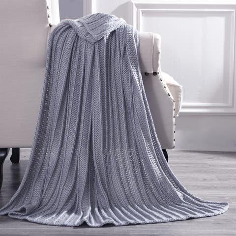 "Modern Threads Metallic Knit Throw - 50"" x 60"""