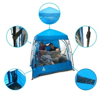 CoverU Sports Shelter - 2 Person Weather Tent Pod (BLUE)