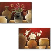 Rouge I and II by Rene 2-piece Gallery Wrapped Canvas Giclee Art Set (Ready to Hang)