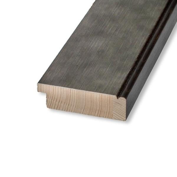 Framed Beige Cork Board, Pounded Metal
