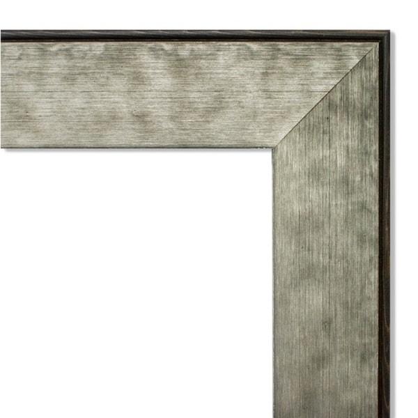 Framed Black Cork Board, Pounded Metal