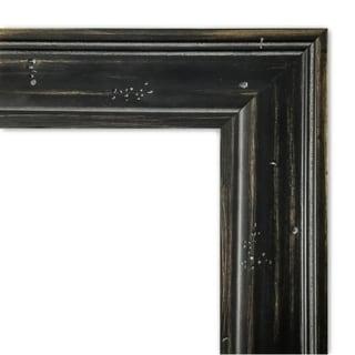 Framed Beige Cork Board, Rustic Pine Narrow Black