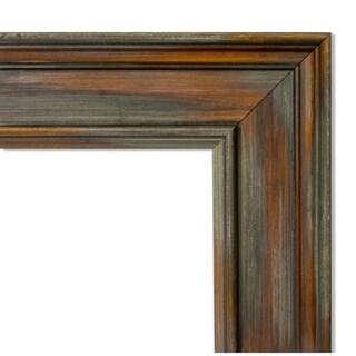 Framed Blue Cork Board, Alexandria Rustic Brown