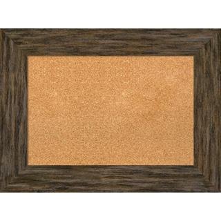 Framed Cork Board, Fencepost Brown