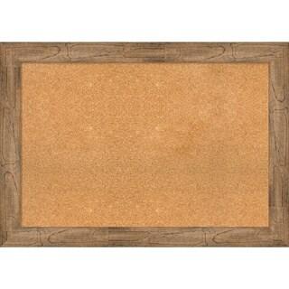 Framed Cork Board, Owl Brown