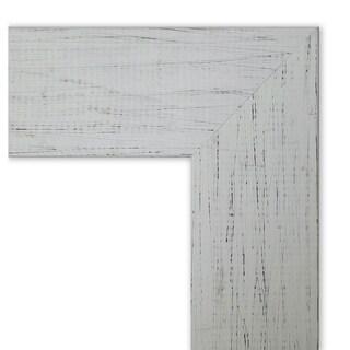 Framed Cork Board, Shiplap White
