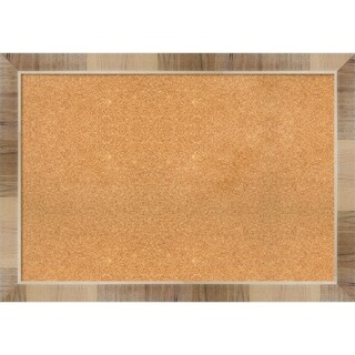 Framed Cork Board, Natural White Wash