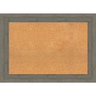 Framed Cork Board, Fencepost Grey