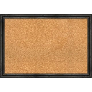 Framed Cork Board, Rustic Pine Narrow Black