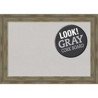 Framed Grey Cork Board, Alexandria Greywash